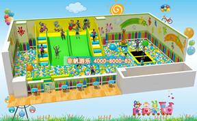 百万海洋球池滑梯乐园【150平方】