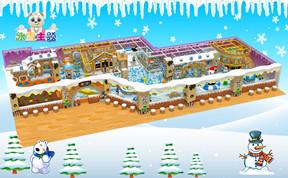儿童淘气堡冰天雪地风格[400平方]