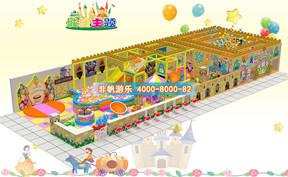 儿童淘气堡城堡风格主题【200平方】