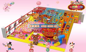 儿童淘气堡马戏团风格主题[300平方]