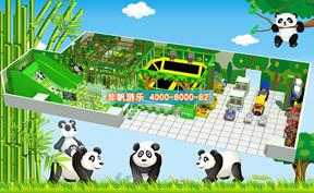 儿童淘气堡森林动物风格【200平方】