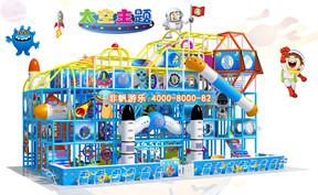 儿童淘气堡太空科幻风格[150平方]