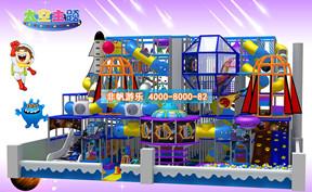 儿童淘气堡太空科幻风格【250平方】