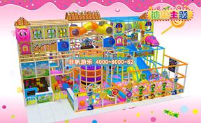 儿童淘气堡糖果缤纷风格[150平方]